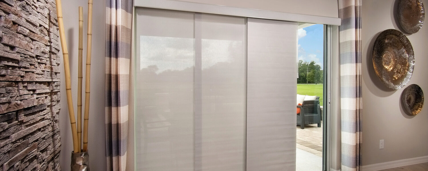 Light Filtering, Florida Sunshades, White-Grey, 1% Openness